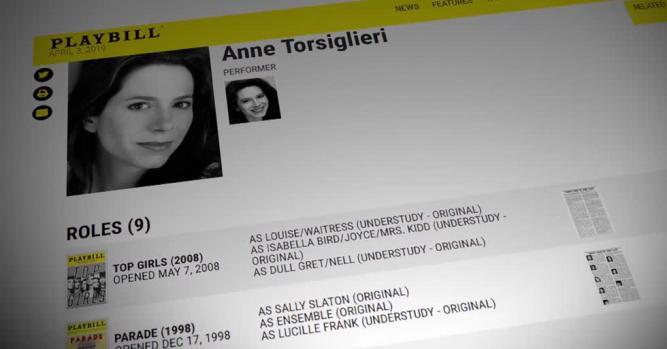Anne Torsiglieri, Actor, Playwright & Performer