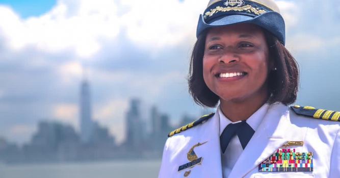Zeita Merchant, Deputy Sector Commander at U.S. Coast Guard Sector New York