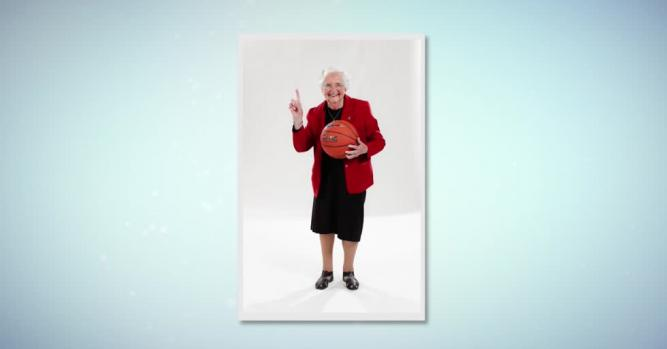 Sister Jean Dolores Schmidt BVM, Chaplain, Loyola University men's basketball team