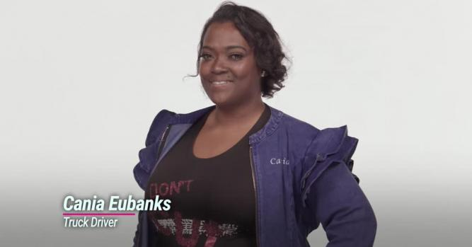 Cania Eubanks, Truck Driver and Founder of She Clutch